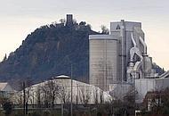 la cementeria e il Colle della Rocca di Monselice