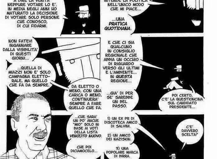 La dichiarazione a fumetti di Claudio Calia