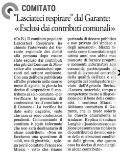 Gazzettino_2015-11-06_Monselice Lasciateci Respirare contributo negato
