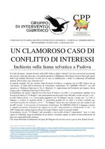 thumbnail of CS GrIG-CPP_13 maggio 2016_Conflitto di interessi Gheppio Villafranca e Polizia Provinciale