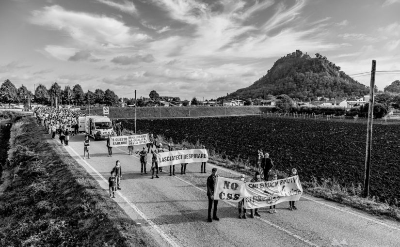 Monselice: Un grande movimento civico contro lo smaltimento dei CSS nel cementificio