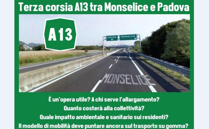 Terza corsia autostrada A13 Monselice – Padova sud: a chi serve?