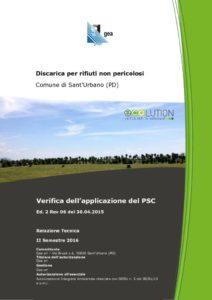 thumbnail of Relazione Tecnica II Semestre 2016 Discarica SU