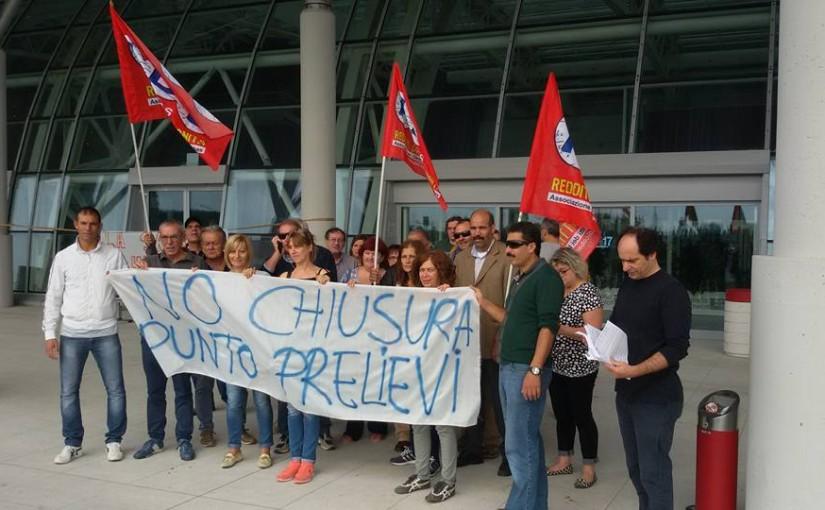Monselice: Sit-in di ADL-Cobas e cittadini contro i tagli alla Sanità pubblica