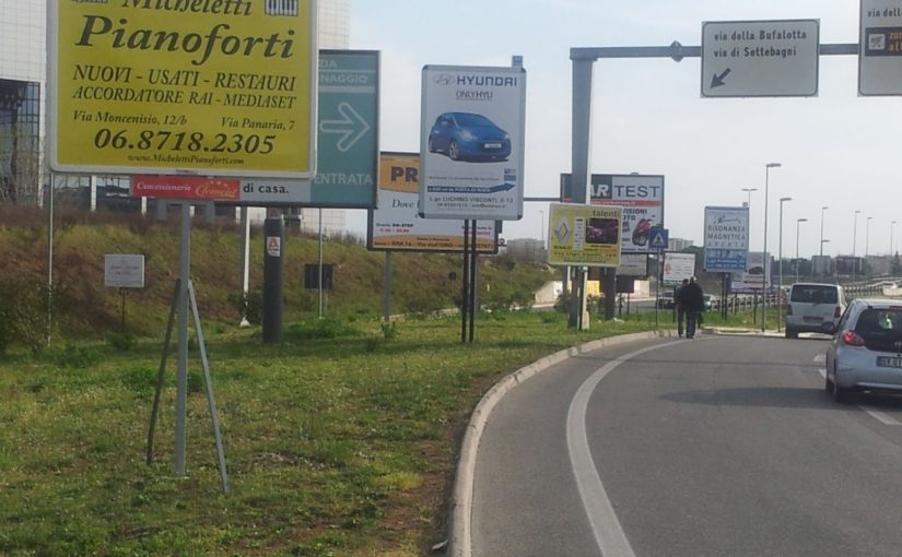 Con una Variante fuorilegge cartelloni pubblicitari ovunque