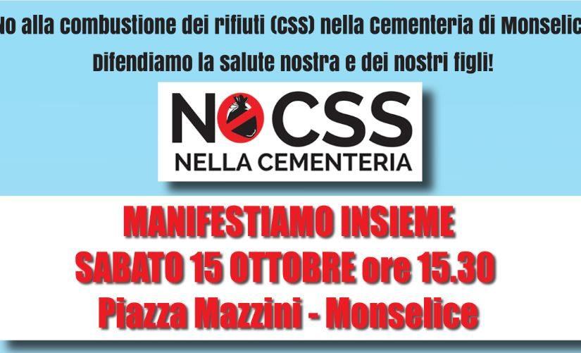 """Manifestazione pubblica """"NO CSS – cambiamo aria"""""""