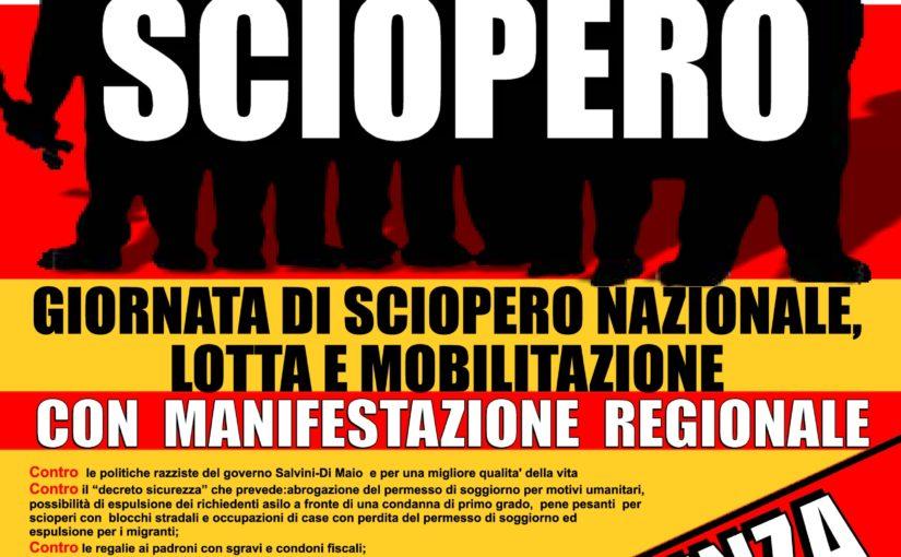 Sciopero e manifestazione a Vicenza