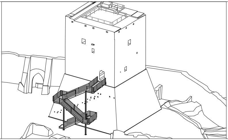 Il nuovo progetto della scala di accesso al Mastio della Rocca di Monselice