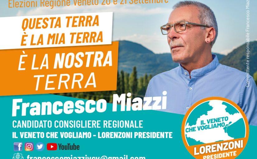 Francesco Miazzi, il candidato per la bassa padovana