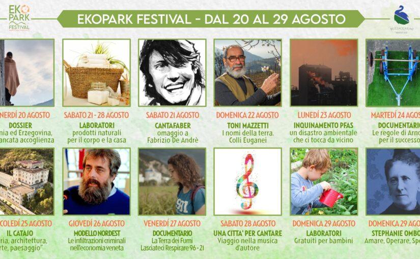 """Il festival """"Ekopark 2021"""" al Parco Buzzaccarini di Monselice, dal 20 al 29 agosto"""